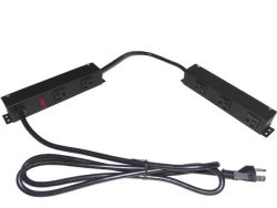 """8"""" Twin Power Strip with 5 Outlets 08D056V1"""