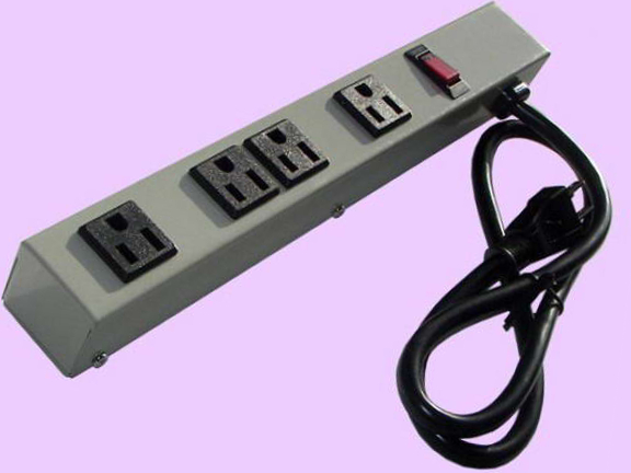 """12"""" 4-Outlet Power Strip 1043G"""