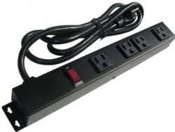 "12"" 4-Outlet Power Strip 10461E"