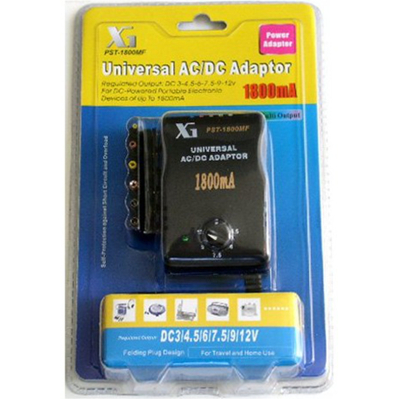 Universal AC/DC Multi-Voltage Output Adaptor 1800MF