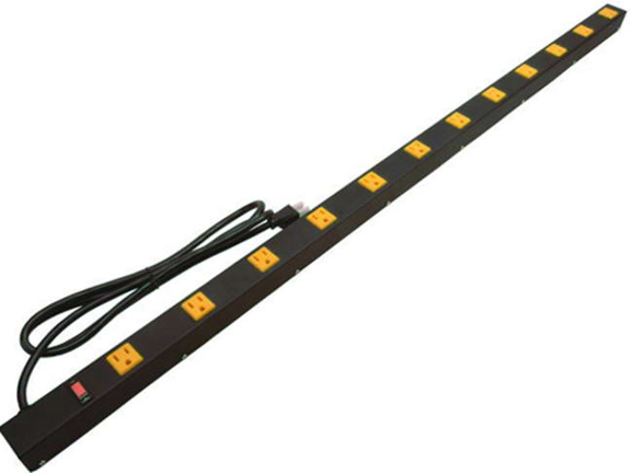 "48"" 12-Outlet Power Strip, 12' Cord 4126A"