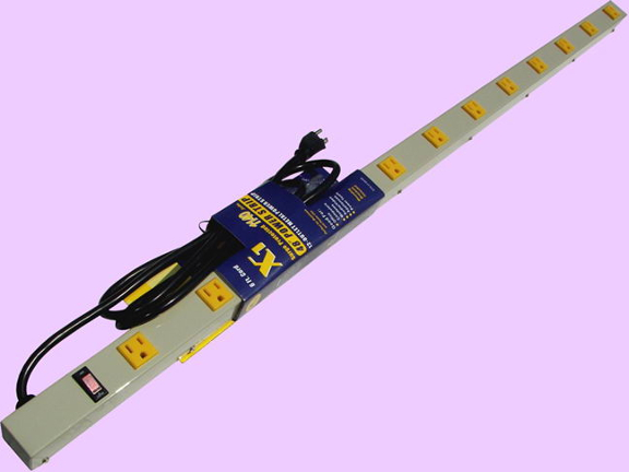 """48"""" 12-Outlet Power Strip, 12' Cord 4126AG"""