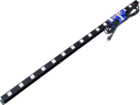 """60"""" 15-Outlet Power Strip, 15' Cord 51512"""