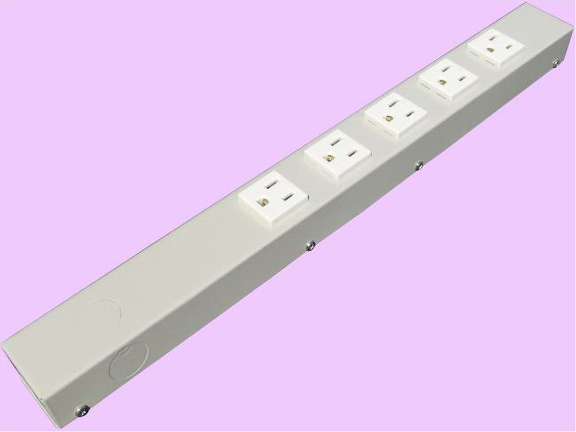 """16"""" 5 Outlet Hardwired Power Strip H01605NVG"""
