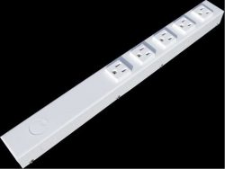 "16"" 5 Outlet Hardwired Power Strip H01605NVW"