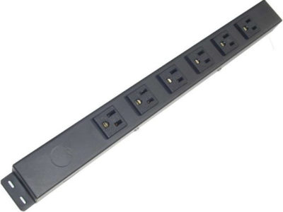"16"" 6 Outlet Hardwired Power Strip H01606NV1"