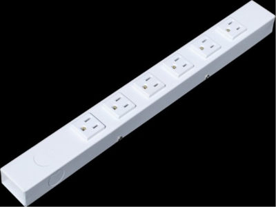 "16"" 6 Outlet Hardwired Power Strip H01606NVW"