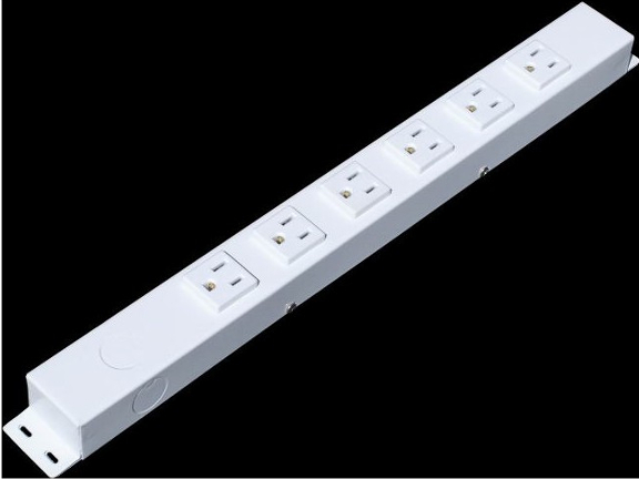 "16"" 6 Outlet Hardwired Power Strip H01606NVW1"