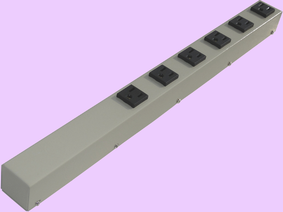 """20"""" 6 Outlet Hardwired Power Strip H02006NVGZ"""