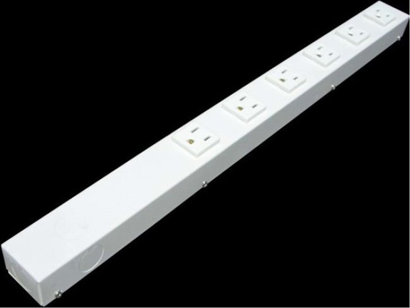 """20"""" 6 Outlet Hardwired Power Strip H02006NVW"""