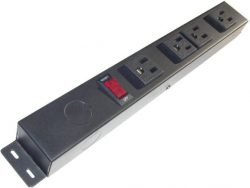 "12"" 4 Outlet Hardwired Power Strip H104NV3"