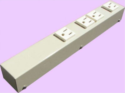 """12"""" 4 Outlet Hardwired Power Strip H104NVG"""