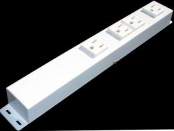 "12"" 4 Outlet Hardwired Power Strip H104NVW1"
