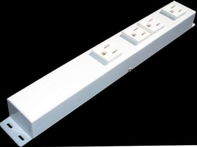 """12"""" 4 Outlet Hardwired Power Strip H104NVW1"""