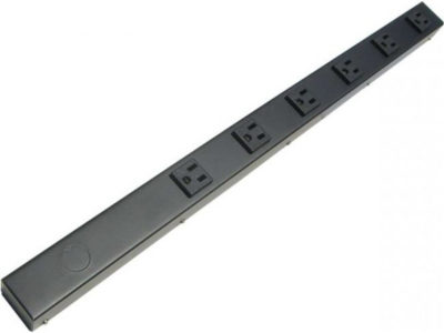 "24"" 6 Outlet Hardwired Power Strip H206NV"