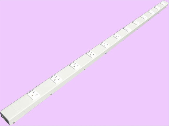 "48"" 12 Outlet Hardwired Power Strip H412NVG"