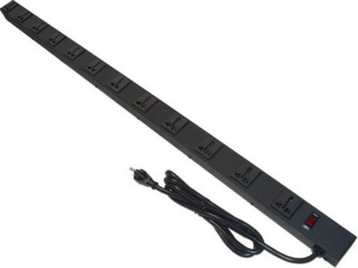 "45"" Power Strip, 12 Universal Outlets U045126N3"